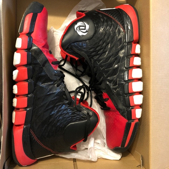 f042d68885075c adidas Other - Adidas D Rose 773 II Sz 12 Red Black White
